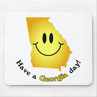 Happy Face - Have a Georgia Day! Mouse Pad
