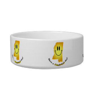 Happy Face - Have a Mississippi Day! Pet Water Bowl