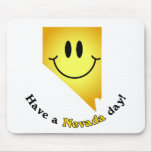 Happy Face - Have a Nevada Day! Mouse Pads