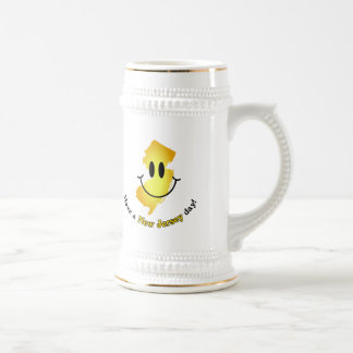 Happy Face - Have a New Jersey Day! Beer Stein