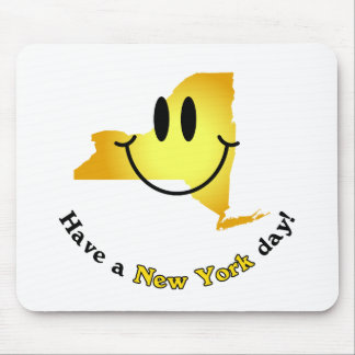Happy Face - Have a New York Day! Mouse Pad