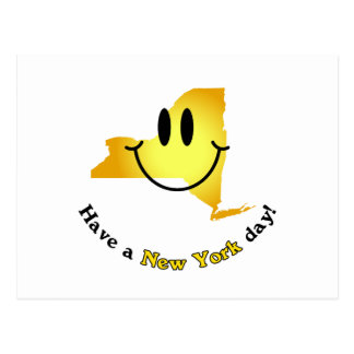 Happy Face - Have a New York Day! Postcard
