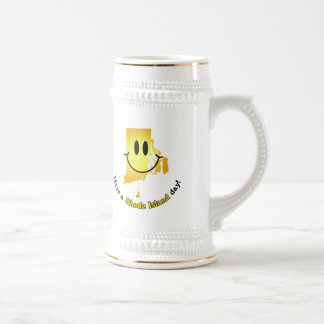 Happy Face - Have a Rhode Island Day! Beer Stein