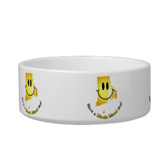 Happy Face - Have a Rhode Island Day! Pet Bowl