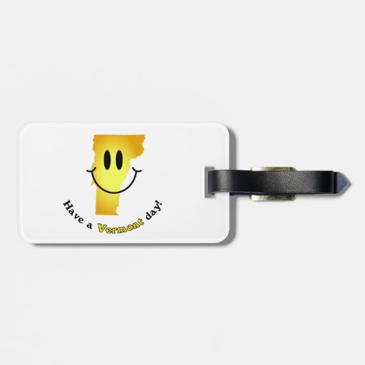 Happy Face - Have a Vermont Day! Tags For Bags