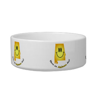Happy Face - Have an Alabama Day! Cat Water Bowls