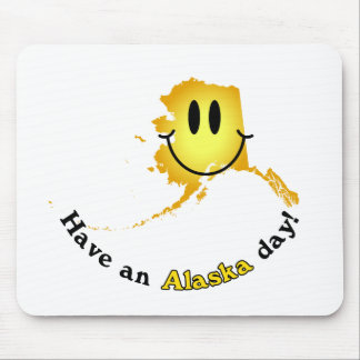 Happy Face - Have an Alaska Day! Mouse Pad