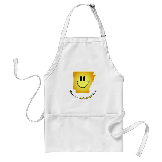 Happy Face - Have an Arkansas Day! Adult Apron
