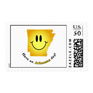 Happy Face - Have an Arkansas Day! Postage