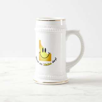 Happy Face - Have an Idaho Day! Beer Stein