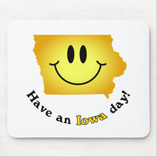 Happy Face - Have an Iowa Day! Mouse Pad