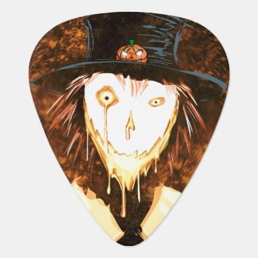 Halloween Themed Happy Face Jim Guitar Pick