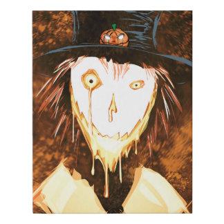Happy Face Jim Halloween Design Faux Canvas Print