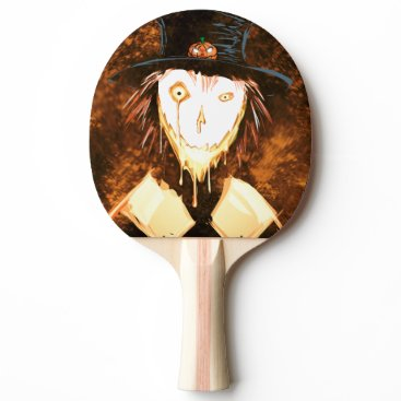 Halloween Themed Happy Face Jim Ping Pong Paddle