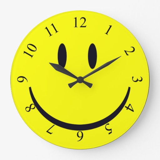 Happy Face Large Clock