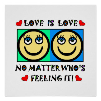 HAPPY FACE LOVE IS LOVE - POSTER EYES