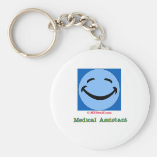 Happy Face Medical Assistant Keychain