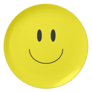 """Happy Face"" Melamine Plate"