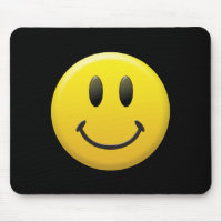 Happy Face Mouse Pad