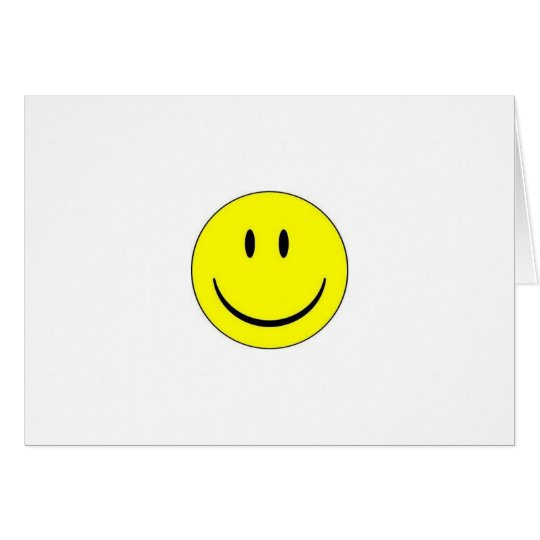 Happy Face Note Card