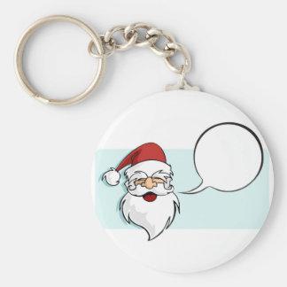 Happy face of Santa Keychain