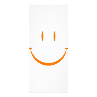 Happy Face: Orange Personalized Rack Card