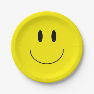 """Happy Face"" Paper Plates"