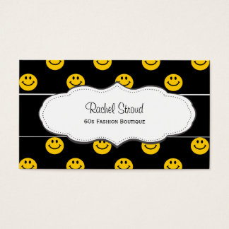 Happy Face Pattern Business Cards