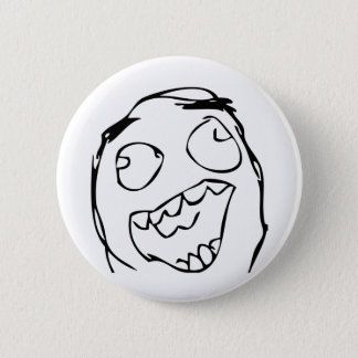 Happy Face Pinback Button