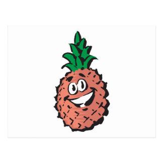 happy face pineapple postcard