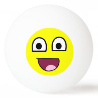 Happy Face Ping-Pong Ball