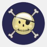 Happy Face Pirate Sticker