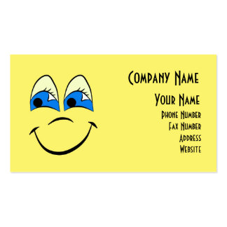 Happy Face Range Double-Sided Standard Business Cards (Pack Of 100)