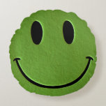 Happy Face Round Pillow