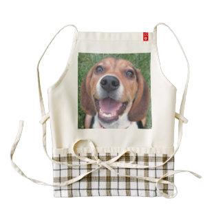 Happy Face Smiling Beagle Zazzle HEART Apron