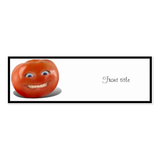 Happy Face Smiling Tomato Business Cards