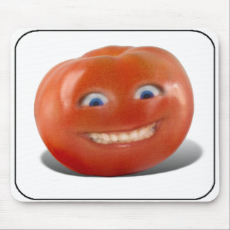 Happy Face Smiling Tomato Mouse Pad