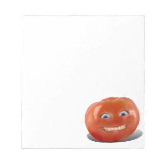 Happy Face Smiling Tomato Memo Pad