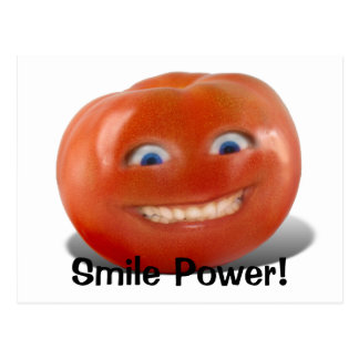 Happy Face Smiling Tomato Postcard
