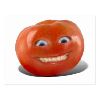 Happy Face Smiling Tomato Postcards