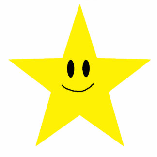 happy face star cutout