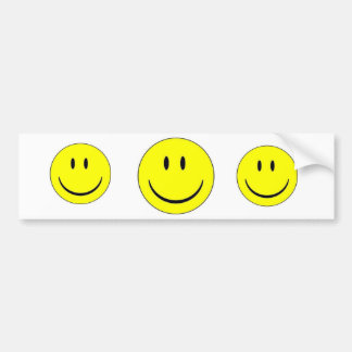 Happy Face Sticker Label