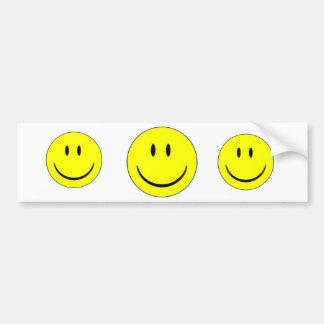 Happy Face Sticker Label Bumper Sticker
