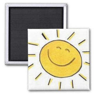 Happy Face Sun - Magnet