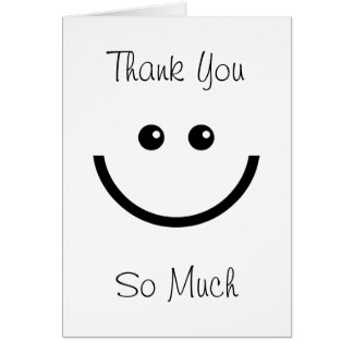 Happy Face Thank You Greeting Cards