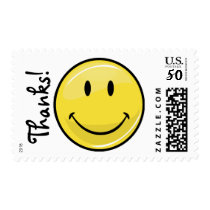Happy Face Thank You Postage Stamps