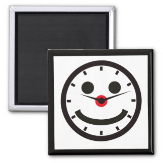 Happy Face Time - Clocked Magnet