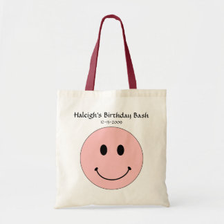 Happy Face Tote or Party Favor Tote by SRF Canvas Bag
