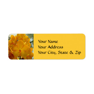 Happy Face Yellow Orchids Custom Return Address Label