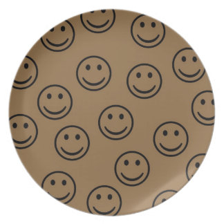 Happy Faces Melamine Plate